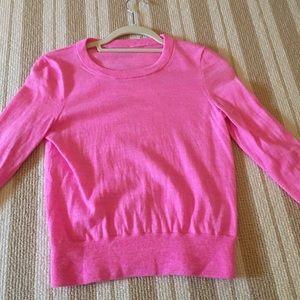 J. Crew Pink Wool Sweater